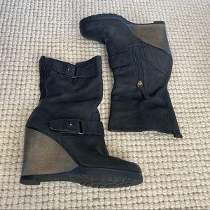Nordstrom Halogen black wedge boots